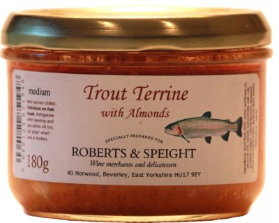 Trout Terrine with Almonds 180g jar